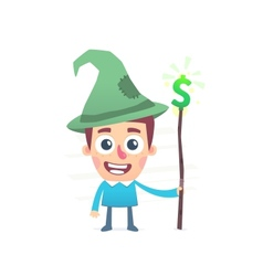 Financial wizard vector