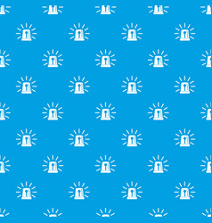 Flashing emergency light pattern seamless blue vector
