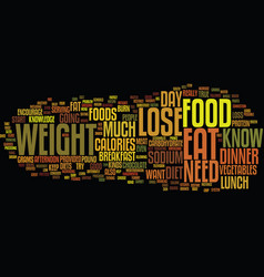 Food lose weight increase your knowledge about vector