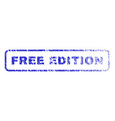 Free edition rubber stamp vector
