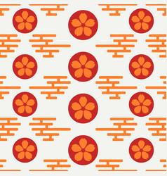 Geometric national seamless asian pattern vector