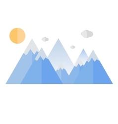 Geometrical mountain travel design vector