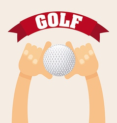 golf sport vector image