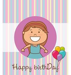 Happy birthday card design vector image vector image