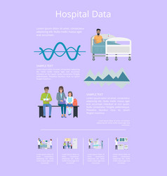 Hospital data and statistics vector