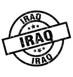 Iraq black round grunge stamp vector