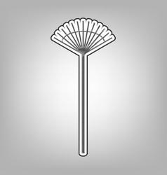 Lawn rake sign pencil sketch imitation vector