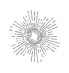 Linear drawing of rays of the sun vector