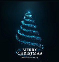 Merry christmas card- christmas tree vector