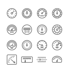 Meter manometers speed clock measure line vector image