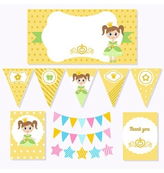 Princess birthday vector