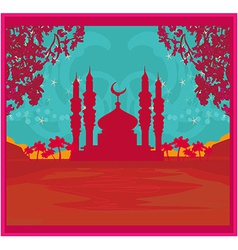 Ramadan background - mosque vector