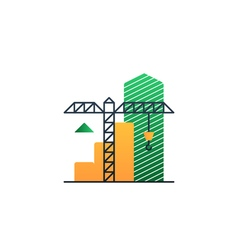 Real estate investment under construction income vector image vector image