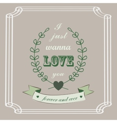 Romantic card in vintage style vector