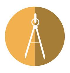 School compass tool study shadow vector