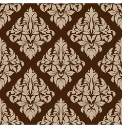 Seamless pattern in almond and cinnamon colors vector