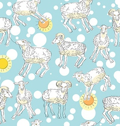 sheeps pattern vector image