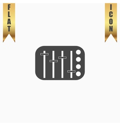 Sound Mixer Console vector image vector image