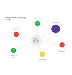 Timeline infographic minimalistic design vector