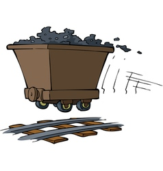 Trolley with ore vector