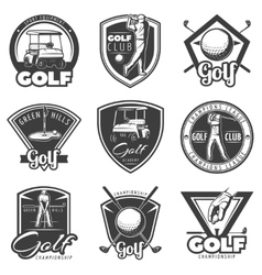 Vintage Golf Labels Set vector image vector image