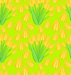 yellow tulip seamless pattern vector image