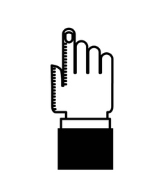 Hand human index icon vector