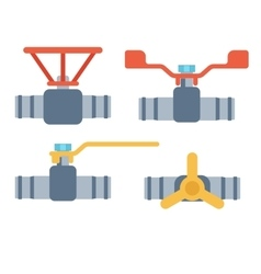 Pipes icons isolated vector