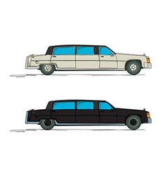 Cartoon limousine vector image