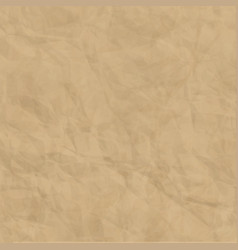 Texture of brown craft crumpled paper background vector