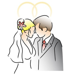 Wedding ring couple vector