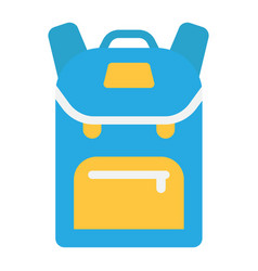 Backpack flat icon education and school vector