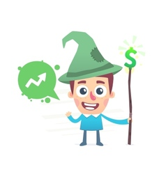 Spell to become rich vector