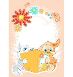 Kids are reading fairy tales vector image