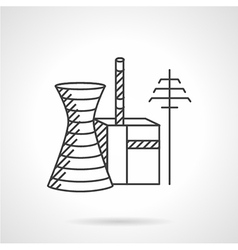 Thermal power plant line icon vector