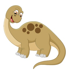Long neck dinosaur vector