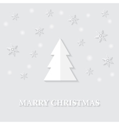 Greeting card with a marry christmas vector