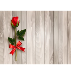 Happy valentines day beautiful red rose and gift vector