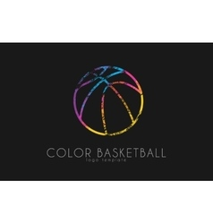 Basketball ball logo basketball sport ball logo vector