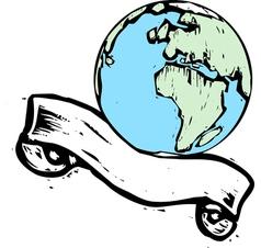Earth banner 3 vector