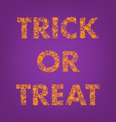 Trick or treat halloween creative typography vector