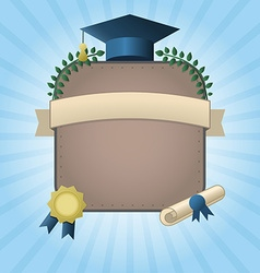 Graduation Certificate Template with Empty Space vector image