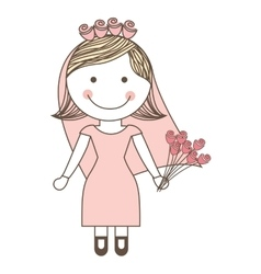 Wife drawing isolated icon design vector
