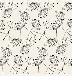 Abstract dandelions seamless patterns vector