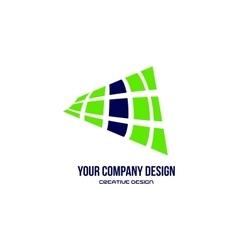 Abstract green blue logo design vector image