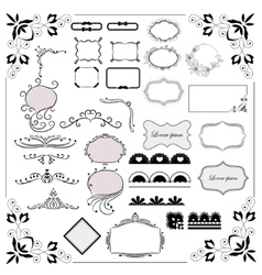 Big set of design elements vector image