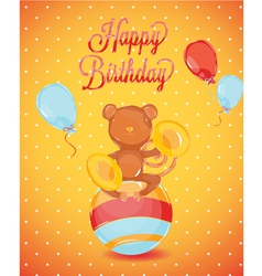 Birthday card monkey vector
