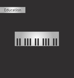 Black and white style icon piano keys vector