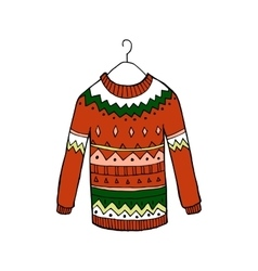 Christmas red sweater vector