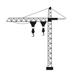 crane lifting machine isolated icon vector image